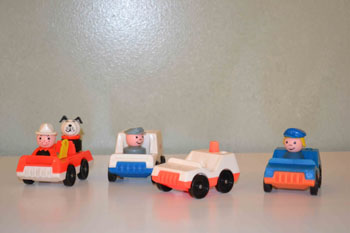 Fire Truck, Mail Truck, Fire Chief, Police