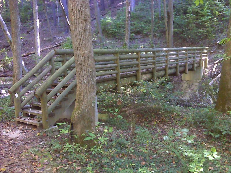 how to build a footbridge across a creek